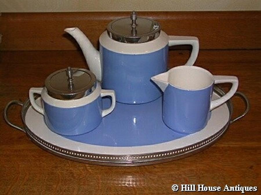 Bauhaus/Cornishware WMF tea set