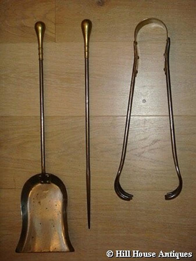 Birmingham Guild of Handicraft fire irons