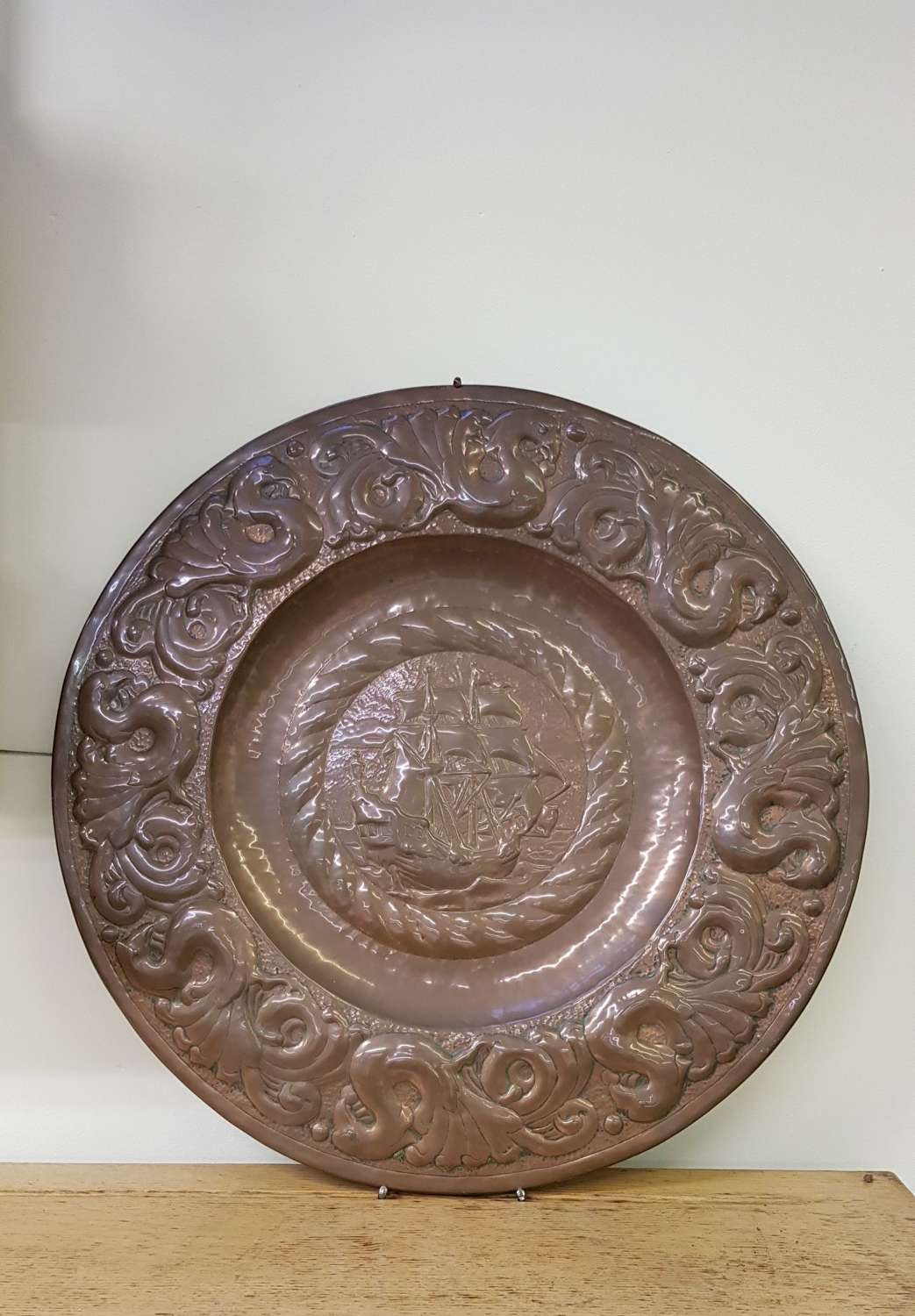 Rare Newlyn copper charger