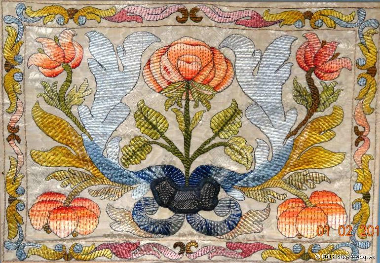 Arts & Crafts silkwork panel