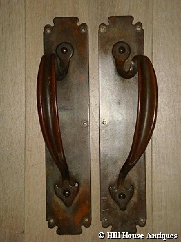 Art Nouveau door handles