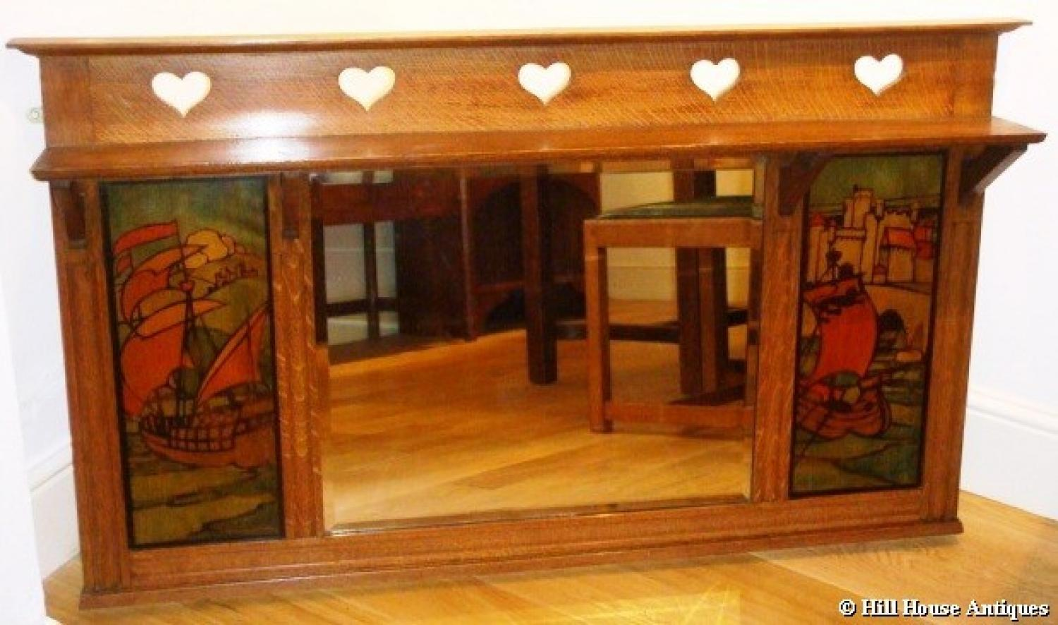 Shapland & Petter overmantle mirror