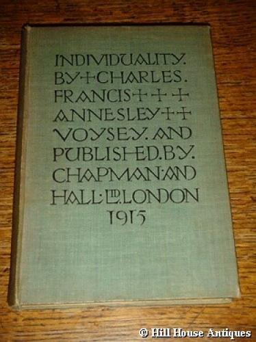 Individuality - 1st Edition by CFA Voysey