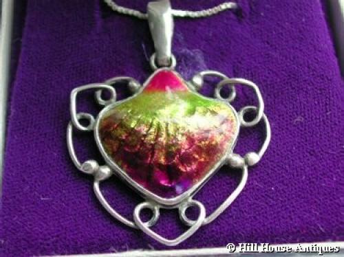 Rare Newlyn enamel pendant