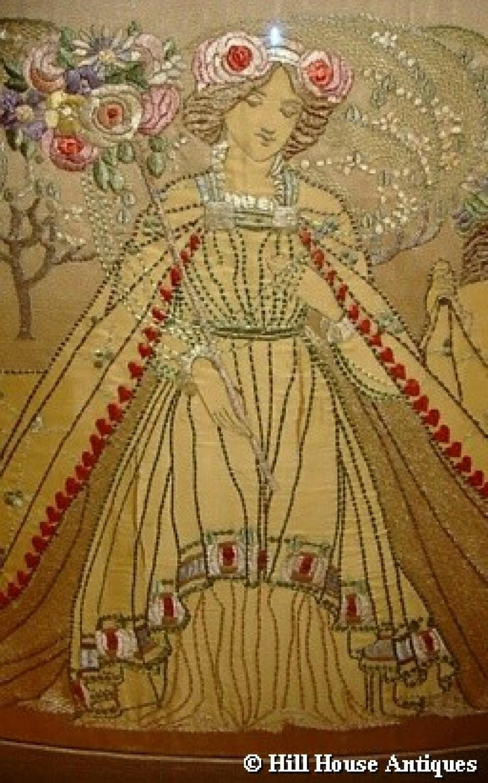 Rare Ann Macbeth Glasgow Style embroidery