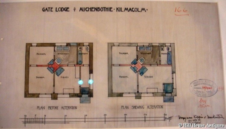 Charles Rennie Mackintosh architectural drawi