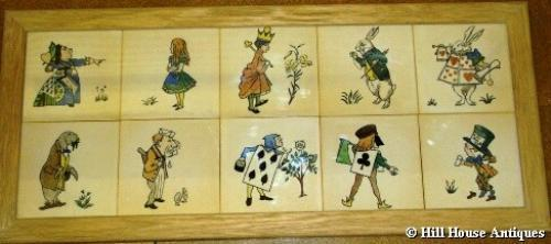 CFA Voysey set of Alice in Wonderland tiles