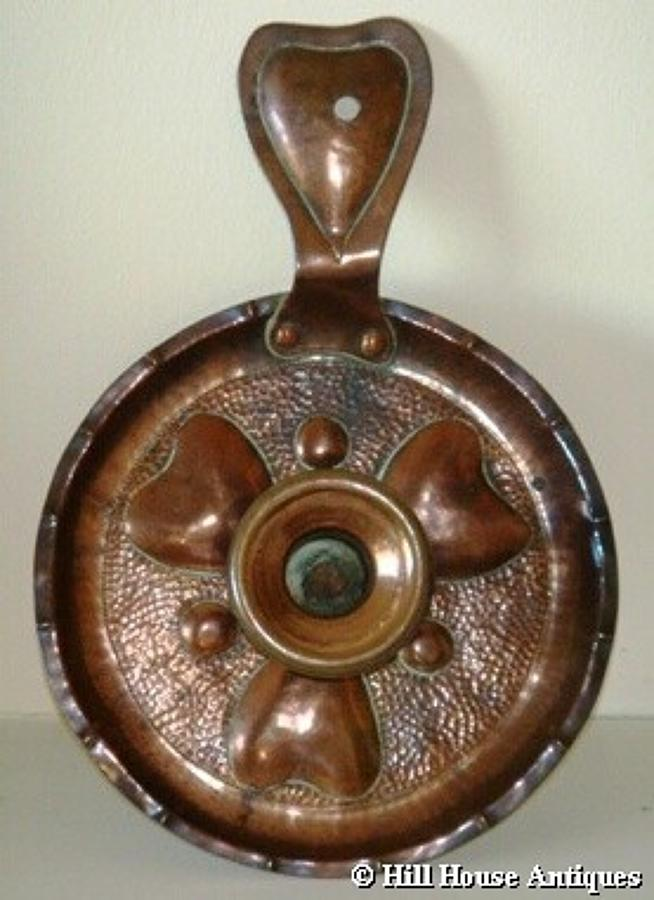 Voysey style copper chamberstick