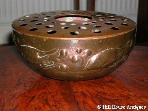 Newlyn copper rose bowl