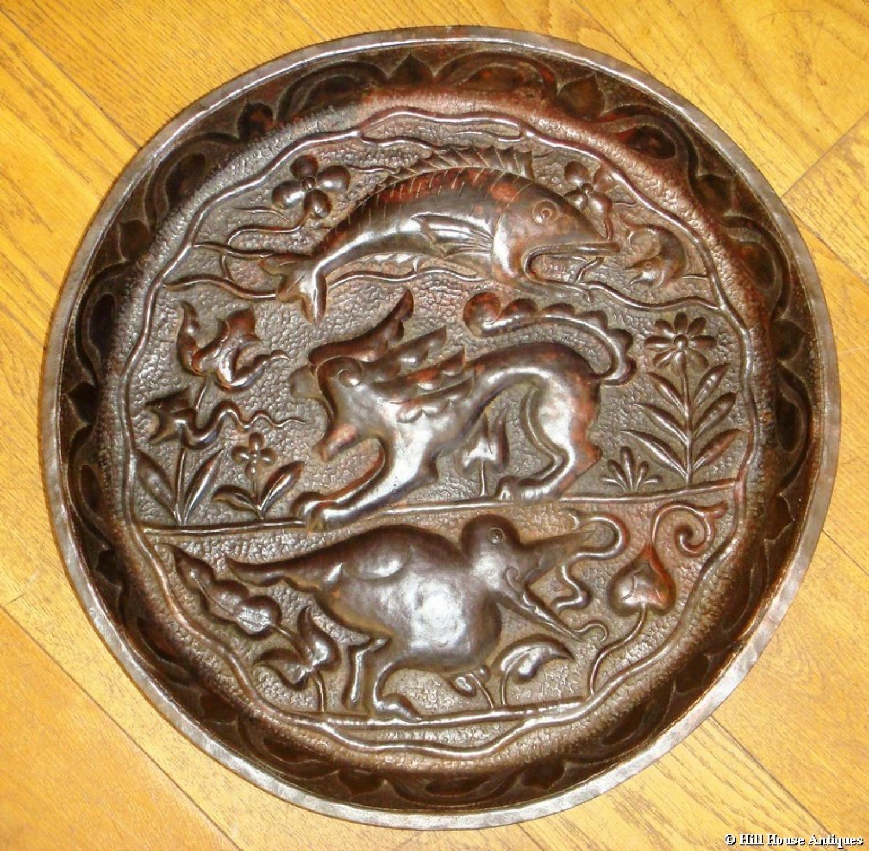 Rare John Pearson large copper bowl