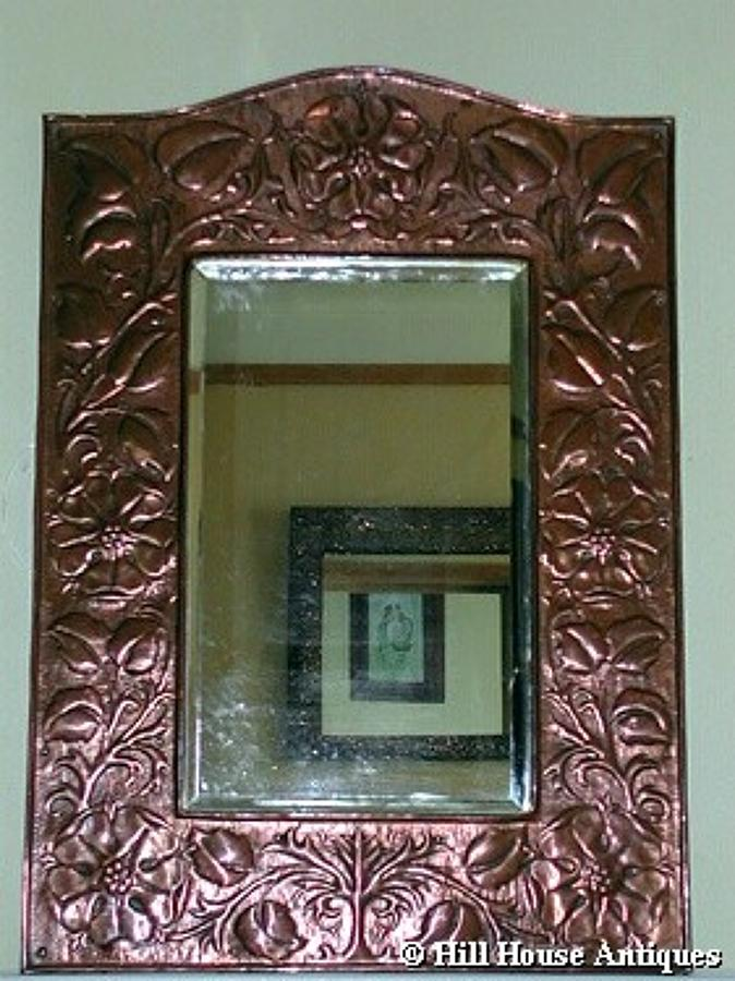 Rare Keswick Mawson copper mirror