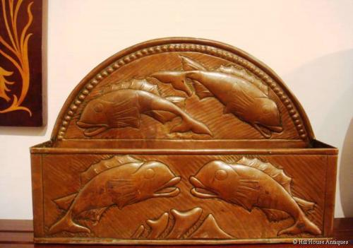 John Pearson Newlyn copper wall pocket