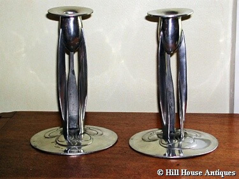 Liberty & Co Knox Tudric candlesticks