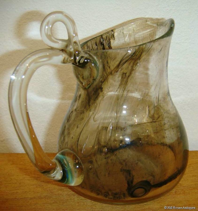 Clutha glass handled jug