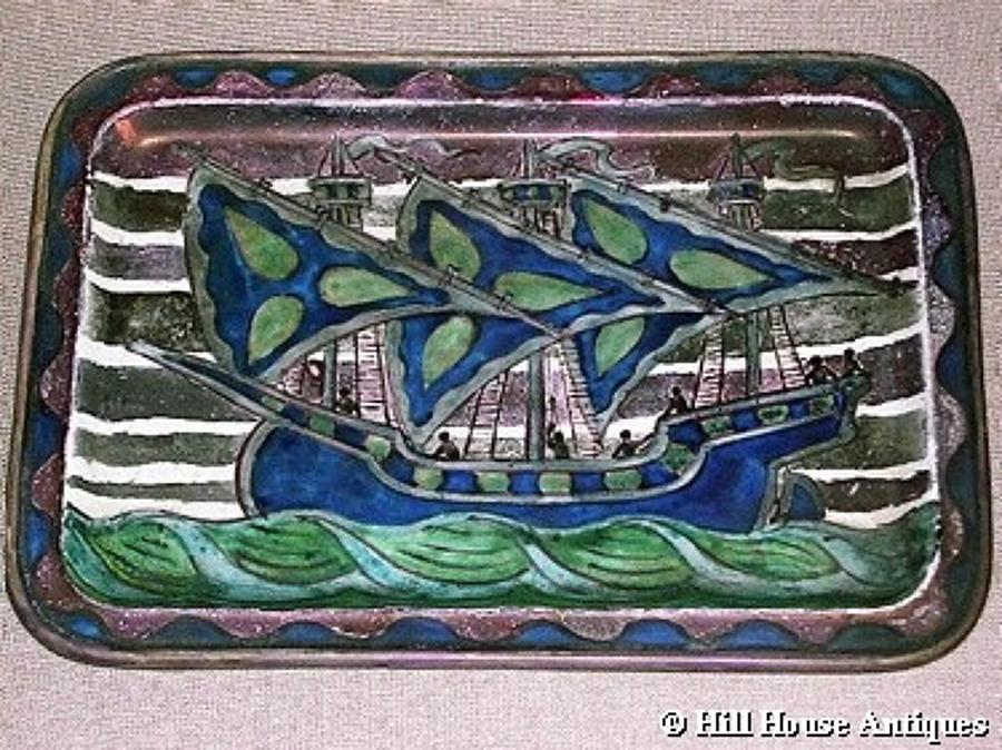 John Pearson Arts & Crafts lustre dish