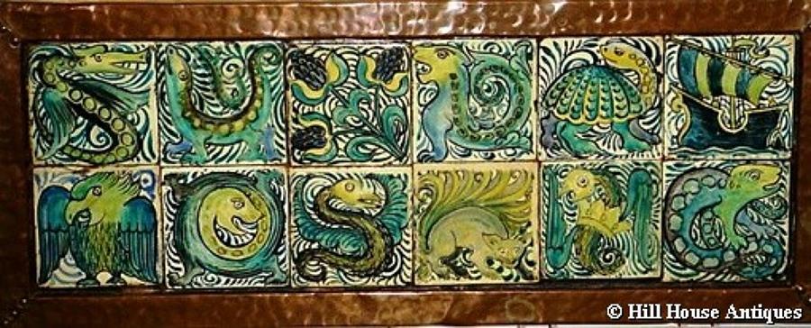 Rare John Pearson tiled tray
