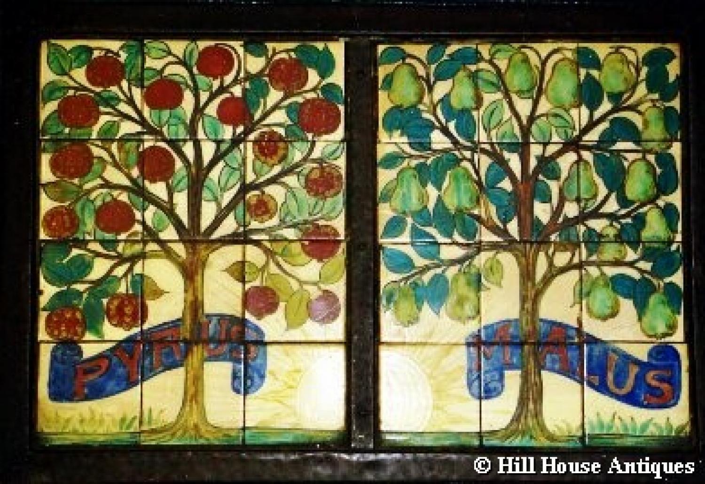 Rare John Pearson Pyrus Malus tiled panel