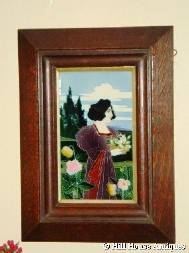 CS Luber Art Nouveau framed tile