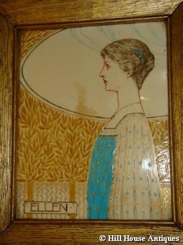 Rare John Wadsworth Minton tile plaque