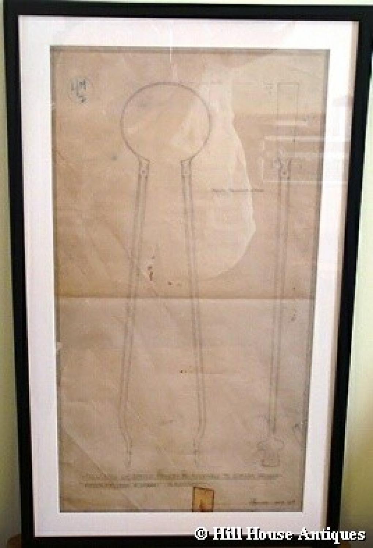 Original Edward Barnsley/Gimson drawing