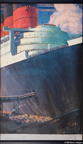 Pair of RMS QUEEN MARY oil paintings