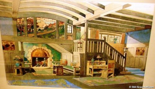 Liberty Leonard Wyburd watercolour interior 2