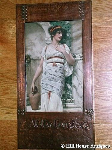 Arts & Crafts copper Godward print