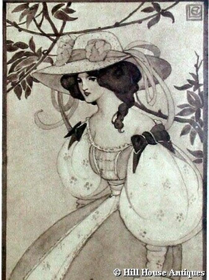 Ethel Larcombe Art Nouveau print