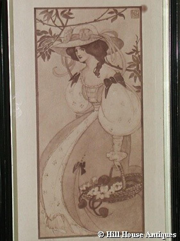 Ethel Larcombe Art Nouveau Print In Other Prints