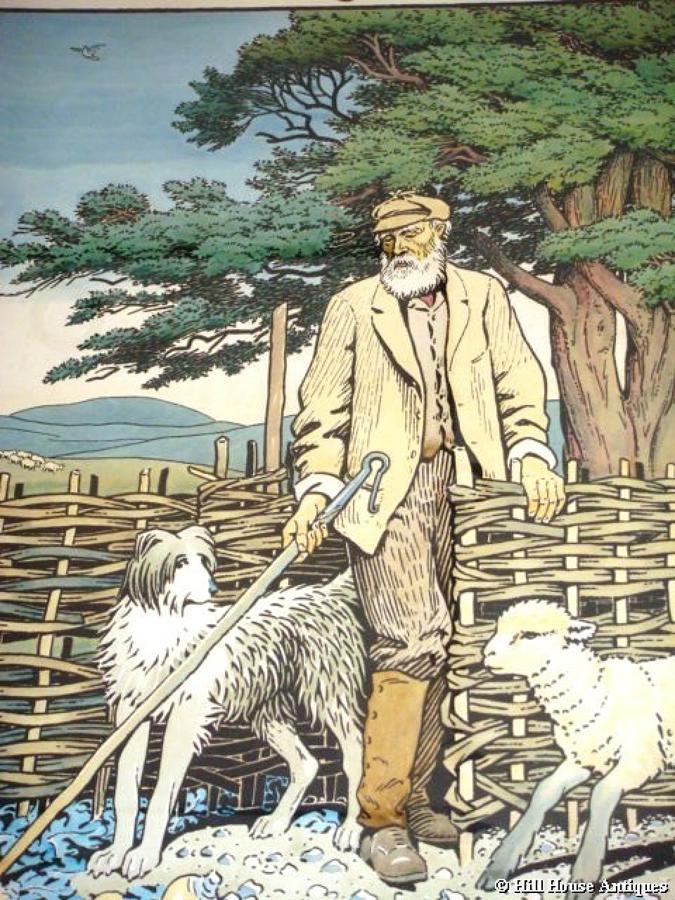 Heywood Sumner litho The Shepherd