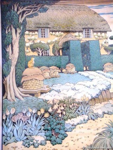 Heywood Sumner litho Bee Garden