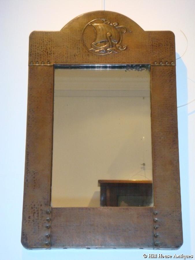 Liberty & Co copper mirror