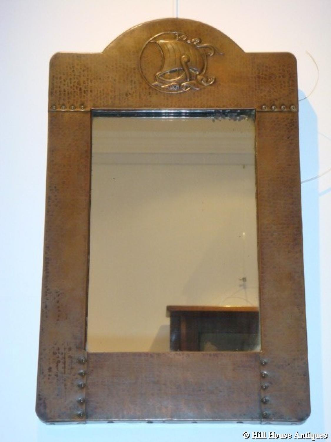 Liberty & Co copper mirror