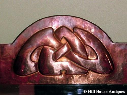 Liberty & Co Archibald Knox copper mirror