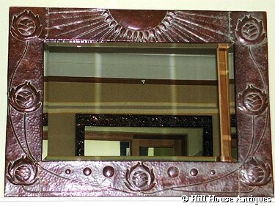 John Pearson large copper mirror