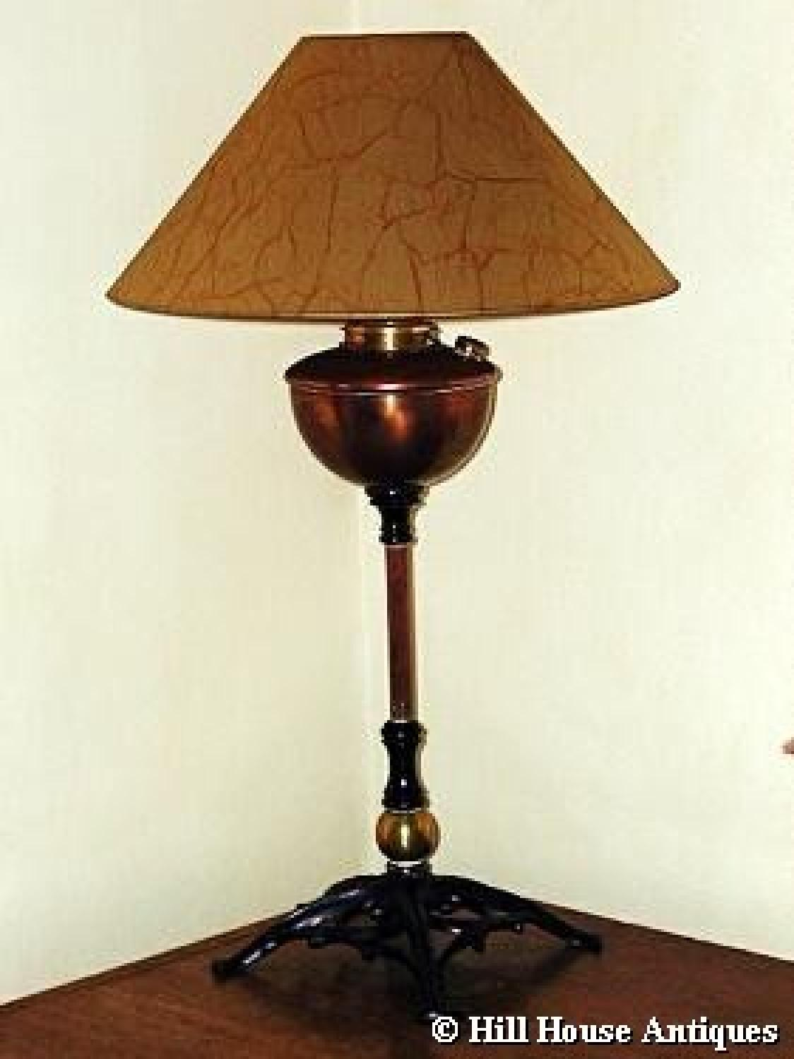 WAS Benson copper & iron lamp
