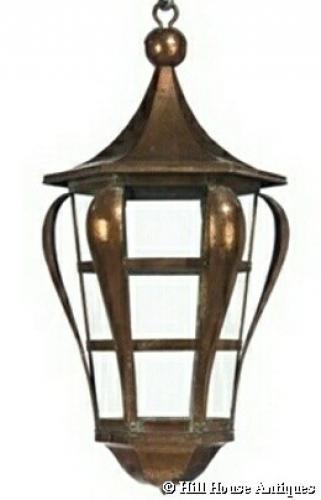 Rare Keswick School Arts & Crafts lantern