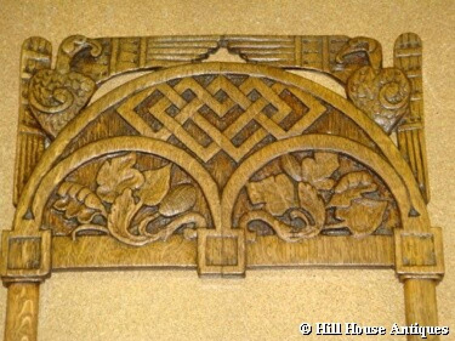 Russian Arts & Crafts carved frame