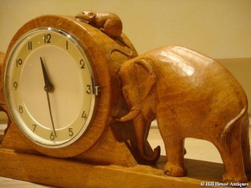 Mouseman mantle clock