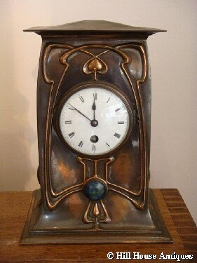 William Tonks & Son Art Nouveau clock