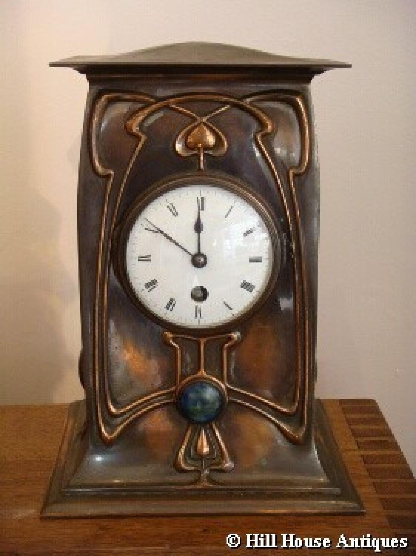 William Tonks & Son Art Nouveau clock
