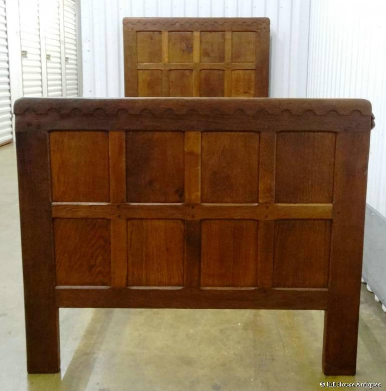 Early Mouseman single bed