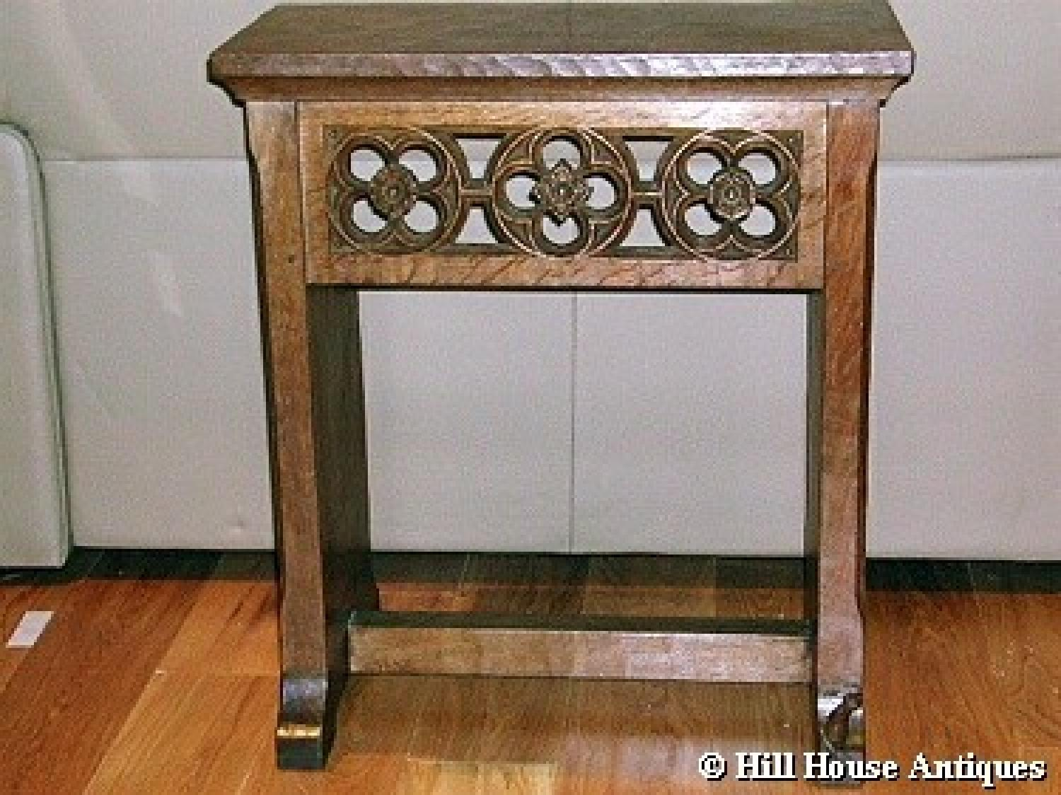 Rare Early Mouseman side table
