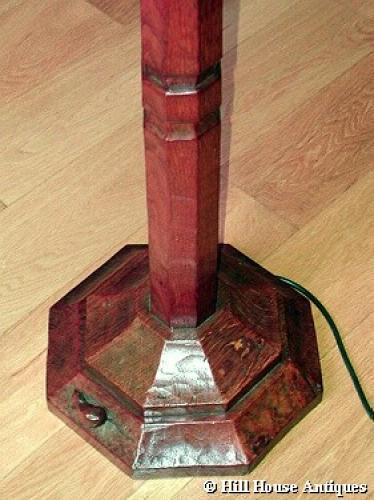 Early 1930s Mouseman standard lamp