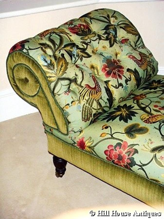 Rare Morris & Co chaise longue