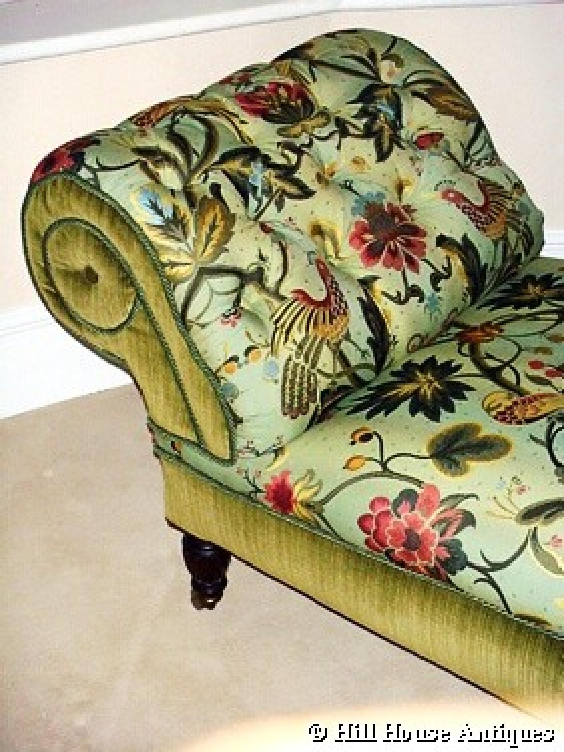 Rare Morris & Co chaise longue