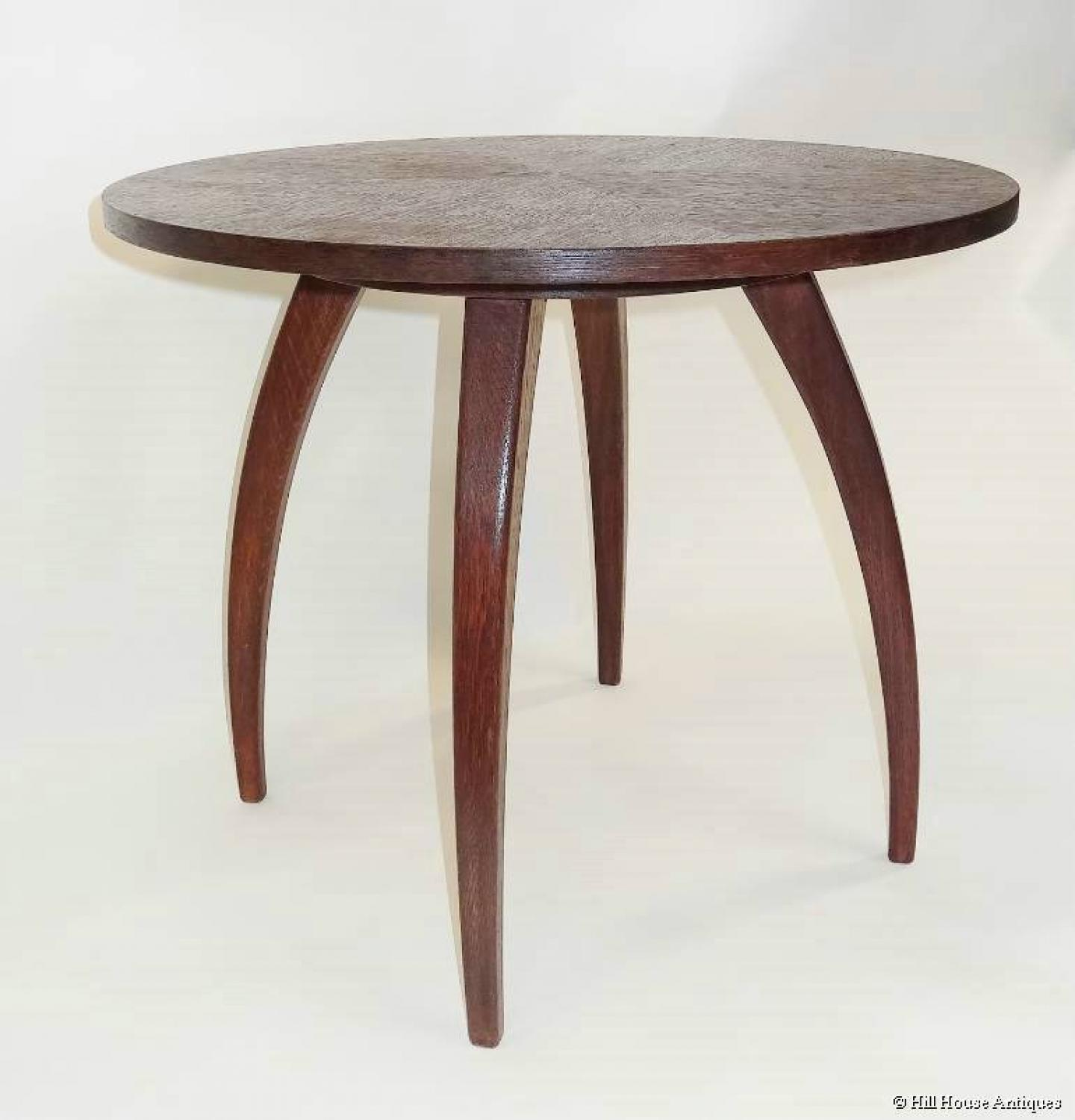 Modernist Jindrich Halabala spider table