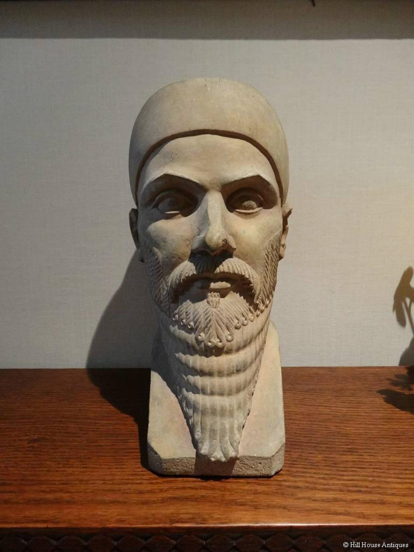 Eric Gill style Assyrian bust