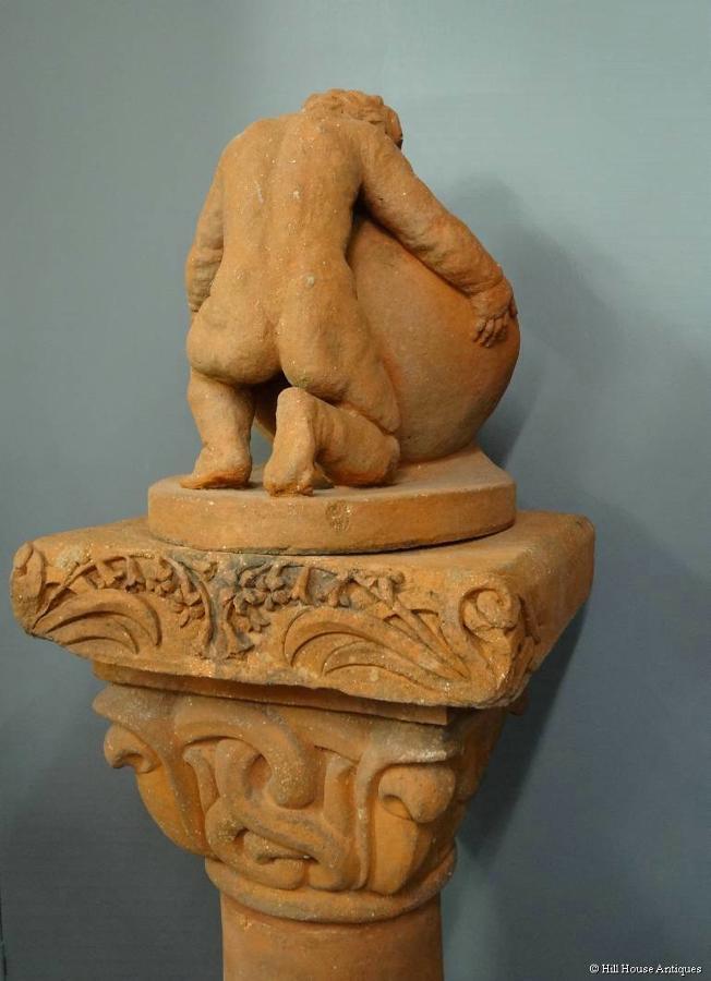 Compton Pottery cobra cherub sundial