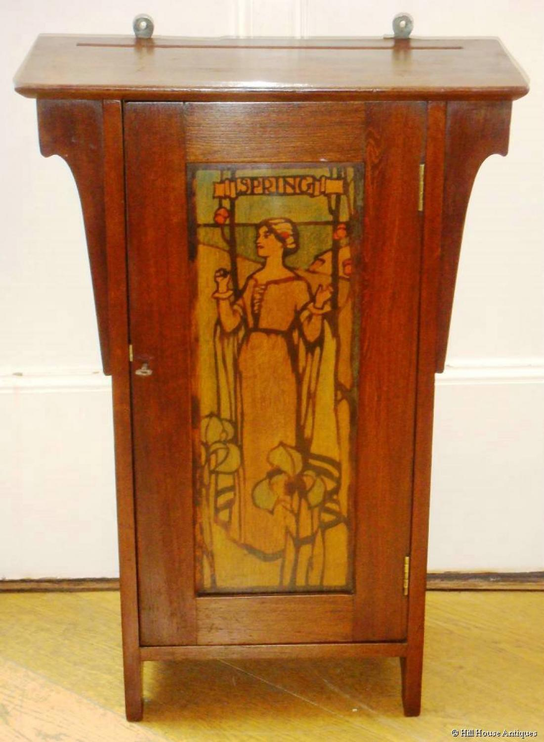 Liberty & Co stencilled wall cupboard